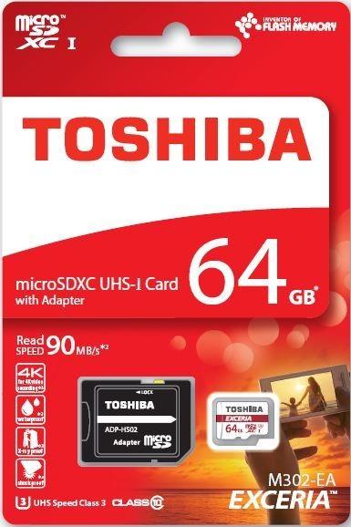 Karta pamięci TOSHIBA EXCERIA micro SDXC 64GB class 10 UHS I & adapter SD