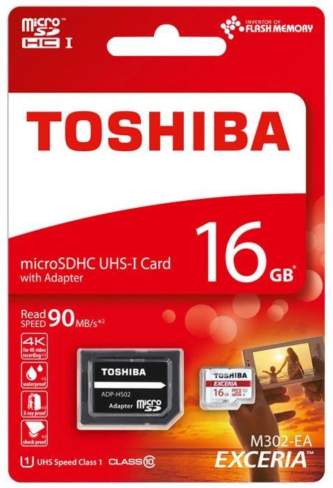 Karta pamięci TOSHIBA EXCERIA micro SDHC 16GB class 10 UHS I & adapter SD